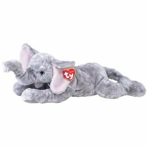 """TY CLASSIC / PLUSH * WEENSY * THE GREY ELEPHANT EXTRA LARGE 36"""" (91cm) VERY RARE"""