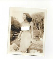Group of 3 1940s 4 X 5 photographs photo of young nude Asian woman World War 2