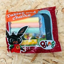 Bing Bunny Chalkboard Tablet & 3 x Coloured Chalks Stocking Filler (Polybag)