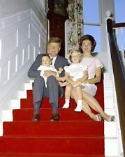 President John F. Kennedy and Jackie with kids Hammersmith Farm New 8x10 Photo