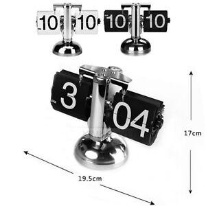 Libra Design Retro Auto Flip Clock for Home Bedroom Table Desk Decor Gift New
