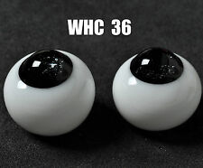 No Pupil 12MM Black Glass BJD Eyes Outfit for Volks Luts BJD AOD DD Doll