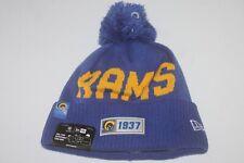 L.A. Rams New Era Royal 2019 NFL Sideline Road Historic Helmet Logo Sport Knit