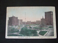 Postcard. Public Square. Cleveland Ohio. Posted in 1904, to Cowes I.O.W.