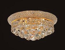 "Palace Bangle 14"" 6 Light Crystal Flush Mount Light Gold Precio Mayorista"