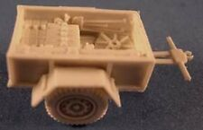 "Milicast BB061 1/76 Resin WWII British 15cwt GS Trailer with stowed 4.2"" Mortar"