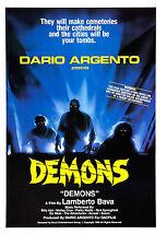 Demons - Dario Argento - A4 Laminated Mini Movie Poster