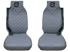Volvo FH12 , FH16 Truck Seat Covers 2 piece (1+1) WATERPROOF GRAY BLACK LOGO