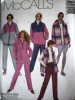 7911 UNCUT McCalls Vintage SEWING Pattern Skirt Vest Jacket Top Pants