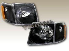 01-05 Ford Explorer Sport Trac Black Headlights Corner