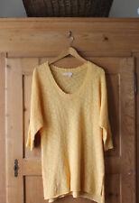 Fresh Produce~ Cotton Blend~Light Summer Sweater~Floral~ Yellow Orange~ Sz XS/S