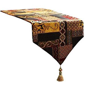 Artbisons Table Runner Handmade Golden Table Runner 120x13, Gold Illusion