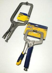 Set of 2 Irwin VISE-GRIP Clamps T18SP 455mm/203mm and Irwin10507189 11R/275mm