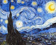 "Superb Quality 10x8"" Art Print The Starry Night Van Gogh on 230gsm Archival Matt"