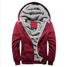 Men's Winter Warm Casual Jacket Coat Jacket Fleece Thick Hooded Zipper Outwear