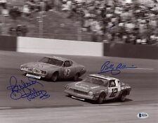 RICHARD PETTY & BOBBY ALLISON DUAL SIGNED AUTOGRAPHED 11x14 PHOTO BECKETT BAS