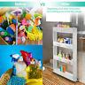 Slim Slide Out Storage Kitchen Pull Cart Trolley Shelf Narrow Places Rack+Wheels