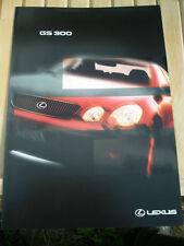 Lexus GS300 range brochure Oct 1998