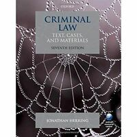 Criminal Law: Text, Cases, and Materials by Jonathan Herring (Paperback, 2016)