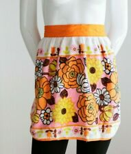 Vintage Floral Terry Cloth 70s Colourful Apron by Kitchen Queen