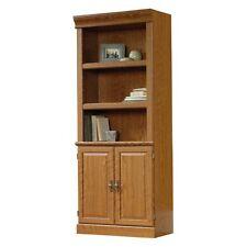 Sauder Orchard Hills Library Bookcase with Doors -, Carolina Oak