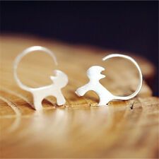 1Pair Women Cat Earrings Cute Small Animal Silver Ear Studs  Earrings Jewelry