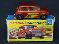 Matchbox Superfast MB29-B1: Racing Mini with Type G Box