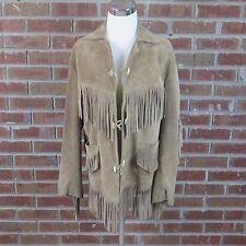 Women's Mejia Hnos Suede Leather Fringed Jacket Mexico Size Medium (36)