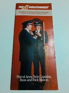 ⭐ Vintage Oct. 28 1984 Southwest Airlines Flight School Travel Ephemera