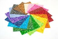 "102  Confetti Sprinkles  pre cut charm pack 5"" squares 100% cotton fabric quilt"
