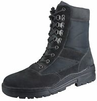 Black Army Patrol Combat Boots Tactical Cadet Security Military Suede