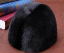 Winter men Real New Mink Fur Hat Cap Headgear Beanie Beret QS 00054.1 ^)