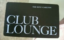 THE RITZ CARLTON Club Level Room Key Card