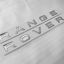 RANGE ROVER CHROME BOOT / BONNET LETTERING BADGE SPORT VOGUE L322 P38 REAR FRONT