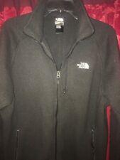The north face men's black zipup fleece jacket coat Large
