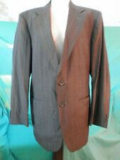 Vintage Towncraft Men's Suit  Gray, blue & Burgundy pin stripe 41R J 33X30 P