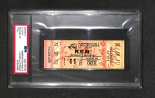 R.E.M. Rem Group All 4 Autographed Signed 1986 Concert Ticket Psa/Dna Grade 10