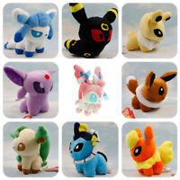 Set of 9 Pokemon Evolution of Eevee Plush Dolls Soft Eeveelution Toy Kids Gift