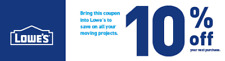 LOWES COUPON 10% OFF Exp. 8/31/18