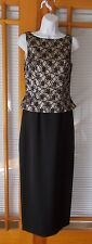 Marie St. Claire Black Mock Two-Piece Formal Dress - Size 4