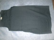 Vermont Country Store Navy & Green Plaid Rayon Jumper Dress Size Lg. ~ VGC