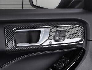 Carbon Fiber Accessories Inner Door Handle Cover Trim for Ford Explorer 20-21