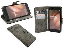 book-style custodia per cellulare accessori borsa antracite HUAWEI P10 PLUS @