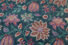 10 Yard Indian Hand Block Print Dressmaking Running Loose Cotton Floral Fabric