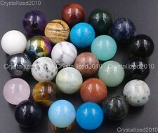Natural Gemstone Round Ball Crystal Healing Sphere Massage Rock Stones 20mm Pick