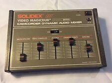 SOLIDEX video magicdub VM2000 Camcorder dinamica audio mixer spedisci in tutto il mondo