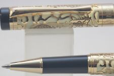 Jinhao No. 5000 Lacquered Cream with Dragon Gold Plated Overlay Rollerball Pen