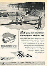 1947 North American Aviation Plane Vintage Advertisement Print Ad J520