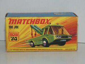 MATCHBOX Superfast new 74 Toe Joe neuf boîte -Made In England MIB