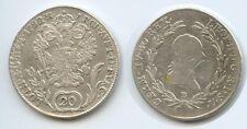 G5415 RDR Österreich 20 Kreuzer 1792 B Kremnitz Ungarn RAR Leopold II.1790-1792